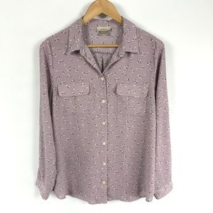 Ann Taylor LOFT Outlet Blouse Purple Lilac